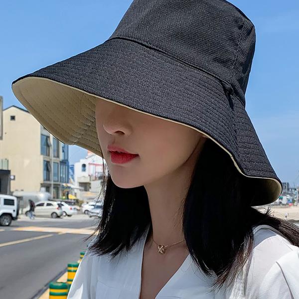 夏季漁夫帽女遮臉正韓防曬紫外線遮陽帽子大沿潮百搭日系女士時尚多色可選