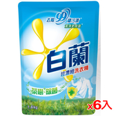 白蘭茶樹除菌洗衣精補充包1.6kg*6入(箱)【愛買】