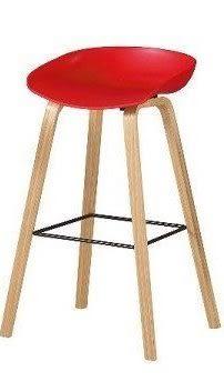 8號店鋪 森寶藝品傢俱 品味生活 c-01 餐廳 吧檯椅系列1043-9伊絲吧椅(紅)(實木)(8319)