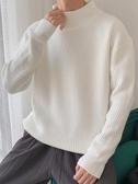 毛衣男 毛衣男春秋半高領針織衫情侶正韓潮流個性寬鬆冬季厚款毛線衣外套【88折免運】