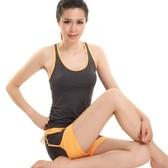 瑜珈服套裝含健身衣+運動褲-無袖透氣運動背心短褲女運動服4色69n35[時尚巴黎]