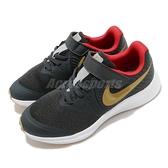 Nike 慢跑鞋 Star Runner 2 PSV 黑 金 童鞋 中童鞋 運動鞋 魔鬼氈 【ACS】 AT1801-010