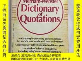 二手書博民逛書店THE罕見Merriam-Webster Dictionary