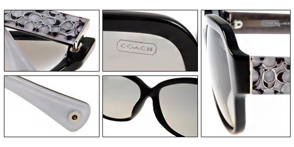 COACH 太陽眼鏡 COS8036F 500211 (黑白) 墨鏡 # 金橘眼鏡