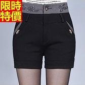 西裝短褲知性新品-高腰棉褲頭個性休閒女褲子66ai7【巴黎精品】