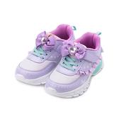 冰雪奇緣 二代 荷葉邊電燈輕量運動鞋 紫 FNKX14247 中大童鞋