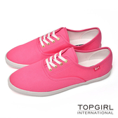 TOP GIRL 繽紛糖果甜心帆布鞋-甜粉紅