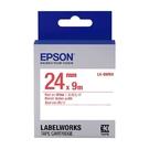 EPSON LK-6WRN C53S656402 一般系列白底紅字標籤帶 寬度24mm