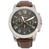 FOSSIL 羅馬時標三眼皮帶男腕錶46mm(FS4813IE)270538