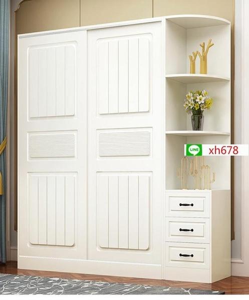 衣櫃現代簡約家用臥室簡易實用掛衣櫃出租房用經濟型收納儲物櫃子【頁面價格是訂金價格】