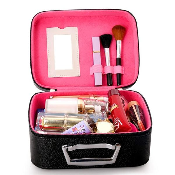 化妝包 大容量化妝箱收納包旅行可愛手提便攜大小號簡約迷你化妝包【諾克男神】