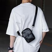 手機斜背包 手機包男新款簡約休閒小單肩包潮牌時尚運動男士斜挎小包女小包包 快速出貨