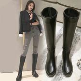 長靴女過膝靴 騎士靴新品冬季高筒靴加絨皮靴中筒馬靴長筒靴子