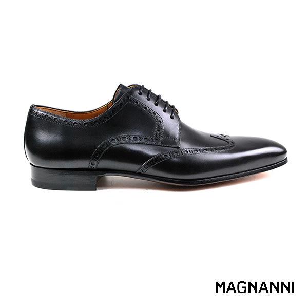 【MAGNANNI】雕花德比紳士皮鞋 黑色(17486-BL)
