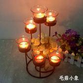 歐式鐵藝蠟燭臺 浪漫創意家居燭光晚餐婚慶擺件飾品 BS21697『毛菇小象』