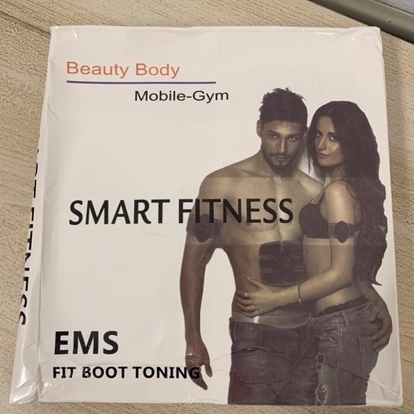 智能健身儀腹肌貼健身器材家用懶人鍛煉腹部貼三件套(777-6587)