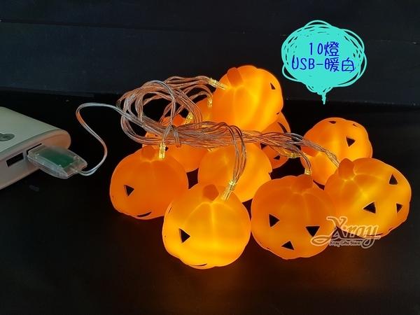 節慶王【W426601】10燈2米USB軟膠南瓜燈-暖白,LED燈/暖白燈/四彩燈/聖誕燈/佈置/燈飾/造型燈