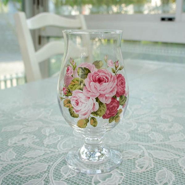 日本【紀念玫瑰 Anniversary Rose】有腳玻璃杯