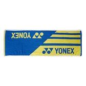 Yonex Towel [AC10019TR002] 毛巾 運動 羽球 吸汗 舒適 柔軟 33x100cm 藍黃