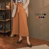 東京著衣-多色知性女孩蝴蝶結綁帶長寬褲-S.M.L.XL.XXL(172726)