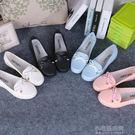 時尚果凍短靴防滑雨靴雨鞋女學生短筒豆豆鞋甜美防滑水鞋套鞋膠鞋『小宅妮時尚』