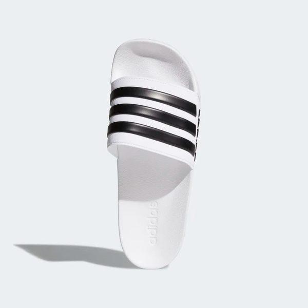 ADIDAS ADILETTE CLOUDFOAM 男鞋 女鞋 拖鞋 防水 海灘 基本款 白 黑【運動世界】AQ1702