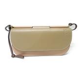LOEWE 羅威 咖啡色牛皮斜背小包 Gate Pochette Clutch Bag【二手名牌BRAND OFF】