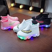 發光鞋-兒童鞋LED燈襪子鞋男女童燈鞋2021春夏新款飛織運動鞋鞋發光鞋
