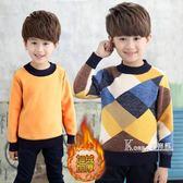 毛衣-新款男童毛衣套頭 秋冬款兒童寶寶針織衫6-10-12歲加絨加厚 korea時尚記