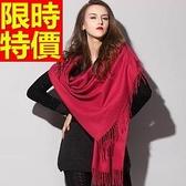 披肩-秋冬保暖純羊毛針織女圍巾65p16[巴黎精品]