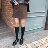 新款韓版高腰深色牛仔A字短裙百搭顯瘦半身裙女學生洛麗的雜貨鋪
