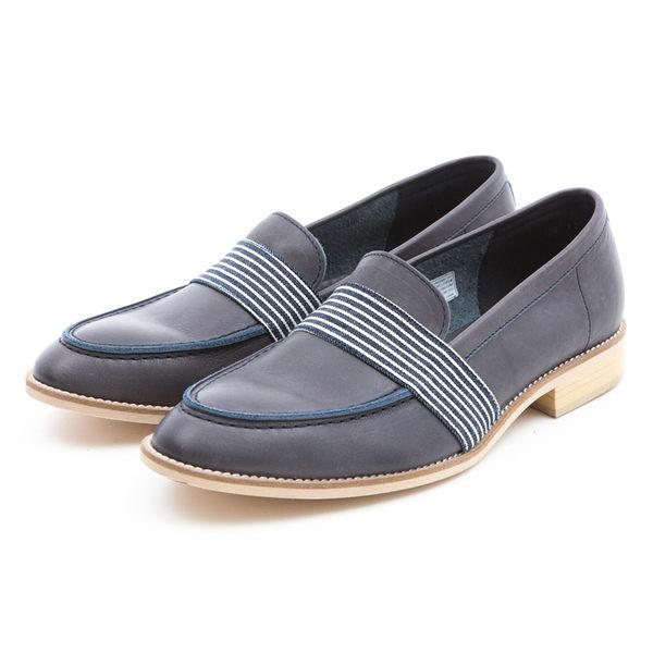 日本都會雅痞紳士樂福鞋#31111靛藍 -ARGIS日本製手工皮鞋