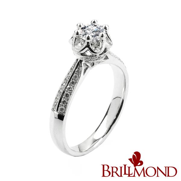 鑽石戒指【BRILLMOND JEWELRY】王者之冠GIA 30分美鑽戒(D/VVS1 3EX)
