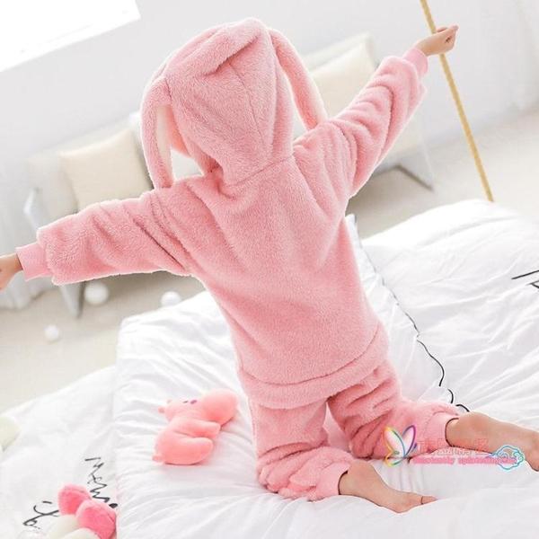 兒童冬天睡衣 女童珊瑚絨睡衣兒童秋冬季加厚款大童冬天小孩子法蘭絨家居服套裝 8色