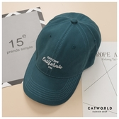 Catworld 個性草寫文字刺繡棒球帽【18003698】‧F