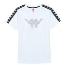 KAPPA 義大利型男吸濕排汗速乾中性針織短袖圓領衫 白 321759W001
