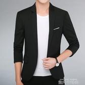 春夏薄款青年西裝商務休閒男士西服單上衣韓版職業裝伴郎外套正裝「時尚彩紅屋」