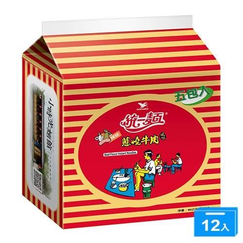 統一蔥燒牛肉麵90g*5*6*2【愛買】