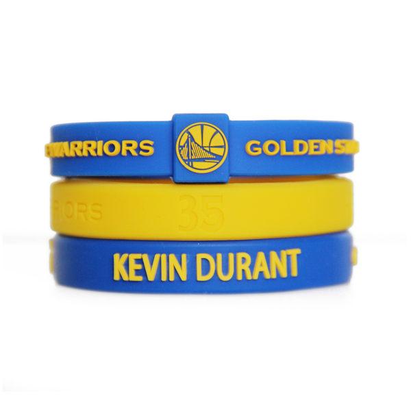NBA官方授權正版 運動矽膠手環 籃球運動手環 舊金山金州勇士 KEVIN Durant KD 凱文杜蘭特 組合套裝