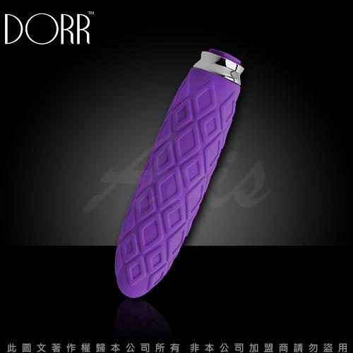 情趣用品 美國DORR  福柯 方鑽型 5段變頻 迷你震動按摩棒 迷惑紫(磁吸式充電)