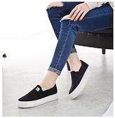 2021秋季帆布鞋女懶人鞋休閒鞋平底布鞋小白鞋女鞋韓版厚底樂福鞋 夏季狂歡