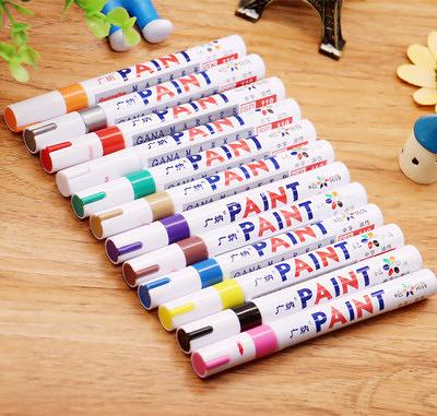 DIY 炫彩輪胎油漆筆 輪胎筆 補漆筆 輪胎 油漆筆 簽字筆 塗鴉 彩繪 夏日專屬價