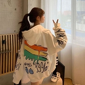 2021秋冬新款加絨加厚衛衣女學生T恤韓版寬松慵懶風ins潮連帽外套 【快速出貨】