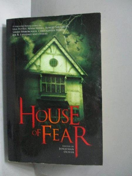 【書寶二手書T6/原文小說_OGB】House of Fear_Jonathan Oliver