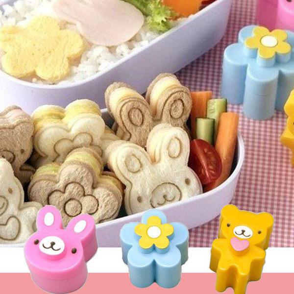超萌可愛三明治造型模具*小熊/花朵/小兔*日韓熱銷 麵包便當模型 壓模 口袋吐司 野餐