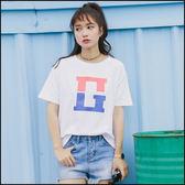 印花短袖T恤上衣★ifairies【48706】
