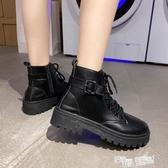帥氣馬丁靴女英倫風2020新款百搭機車網紅瘦瘦潮ins小短靴夏季酷 萬聖節
