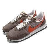 Nike 休閒鞋 Wmns Waffle Trainer 2 復古 棕 橘 麂皮 男女鞋 【ACS】 DH1349-002