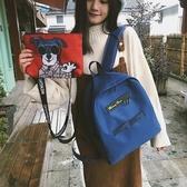 街拍書包女韓版高中學生雙肩包百搭簡約 新春禮物