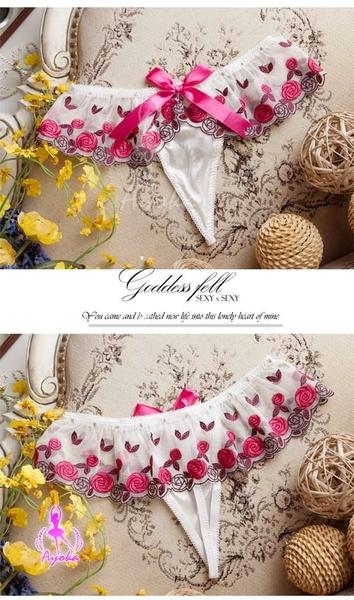 傳說情趣~薔薇花園!刺繡裙擺造型丁字褲